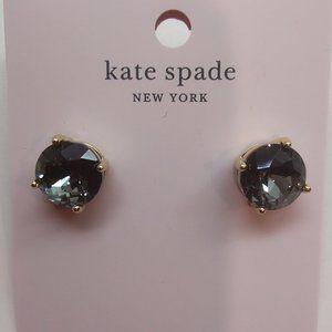 Kate Spade New Round Black Gumdrop Earrings